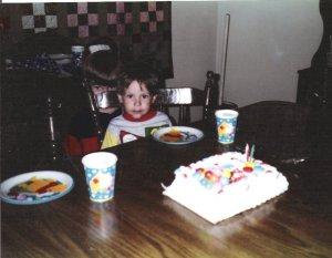 Me creeping at Adam's sad birthday