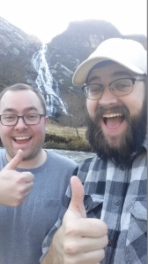 So we took a waterfall selfie!